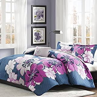 Mi Zone Allison Comforter Set Twin/Twin Xl Size - White, Yellow, Grey, Floral – 3 Piece Bed Sets – Ultra Soft Microfiber Teen Bedding For Girls Bedroom