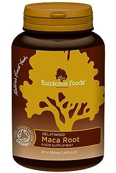 Rainforest Foods Maca-Kapseln 120 X 500Mg, 1er Pack (1 x 60 g) - Bio