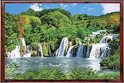 Buy Pictoreal Waterfall 3D Photo Frame Online at Low Prices in India ...