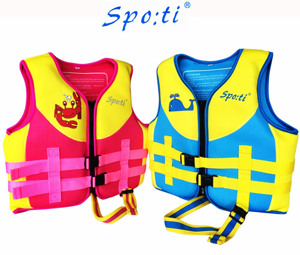 Rayma Cute Cartoon Infant Buoyant Life Jacket Swimwear Folding Life Vest For Children/'s Water Sports /& Games Equipment as a buoyant-aid-tool Cute Whale Pattern Colour Blue Small