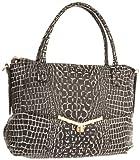 botkier Valentina 1314214-HN-BWC Satchel,Black/White Croc,One Size, Bags Central