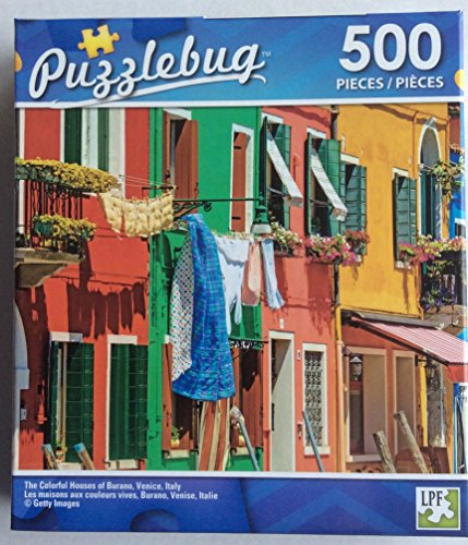 Puzzlebug The Colorful Houses Of Burano  Venice  Italy Jigsaw Puzzle 500 Pieces