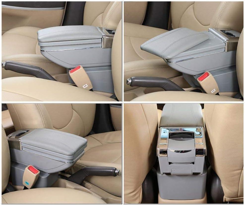 SENYAZON Voiture Accoudoir Box Accoudoir Gris pour Honda CR-Z CRZ de Voiture Bo/îte de Rangement Organiseur de Console
