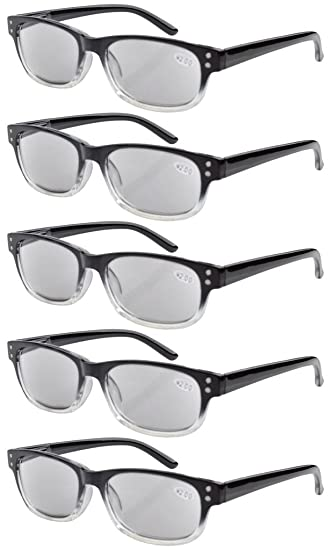 538a37832c2 Image Unavailable. Image not available for. Color  Eyekepper 5-pack Spring  Hinges Vintage Reading Glasses Sunglasses Readers ...