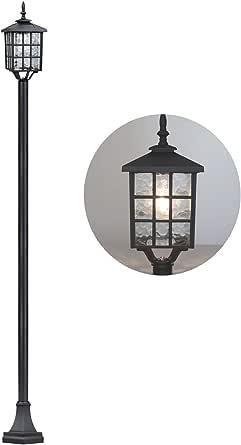 Kemeco ST4324SS4 LED Cast Aluminum Solar Lamp Post Light Street Light for Outdoor Landscape Pathway Driveway Patio Garden Yard Lawn