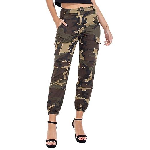 02974e0accf6e RUEWEY Women High Waist Hip Hop Dance Tapered Cargo Jogger Pants Trousers  Harem Baggy Jogging Sweatpants