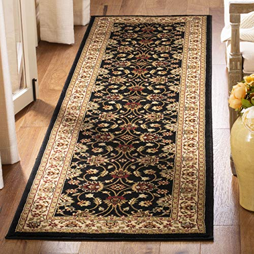 Safavieh Lyndhurst Collection LNH553-9012 Traditional Floral Black and Ivory Runner (2'3