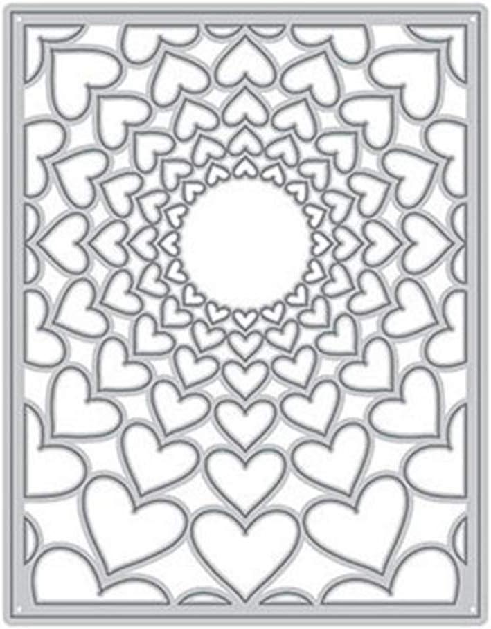 2pcs Love Heart Metal Cutting Dies Stencils for DIY Cards Scrapbooking Decor JB