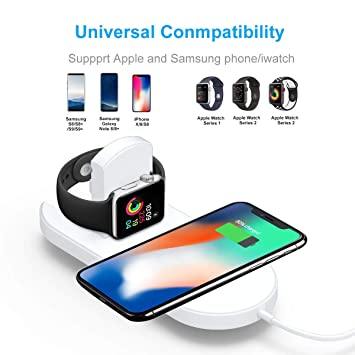 ZUZU Qi Cargador inalámbrico para iPhone X/XS MAX XR 8 Plus ...