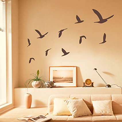 Amazoncom Battoo Seagulls Set Of 10 Vinyl Wall Decals Beach Wall