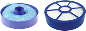 DerBlue All Floor Replacement Bundle Filter Kit for Dyson DC33, 1 DC33 Washable Dust Cup Primary Filter, 1 DC 33 Post Motor HEPA Exhaust Filter, Generic For 919563-02 921616-01