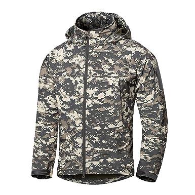 61de57a6a6782e YuanDian Herren Herbst Winter Tactical Camouflage Fleecejacke Wasserdicht  Winddicht Warm Military Armee Mantel Mit Kapuze Outdoor Wandern Trekking  Jagd ...