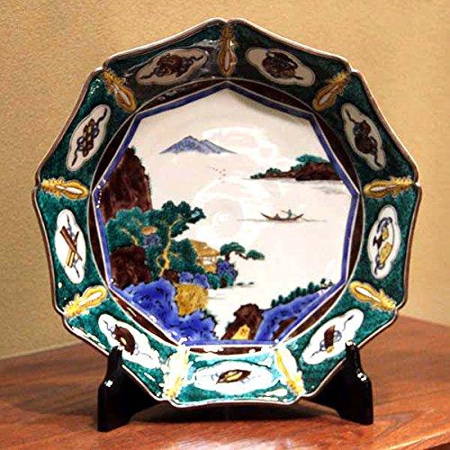 三ツ井為吉 九谷焼 八角 飾皿 山水 B078WKNGBL