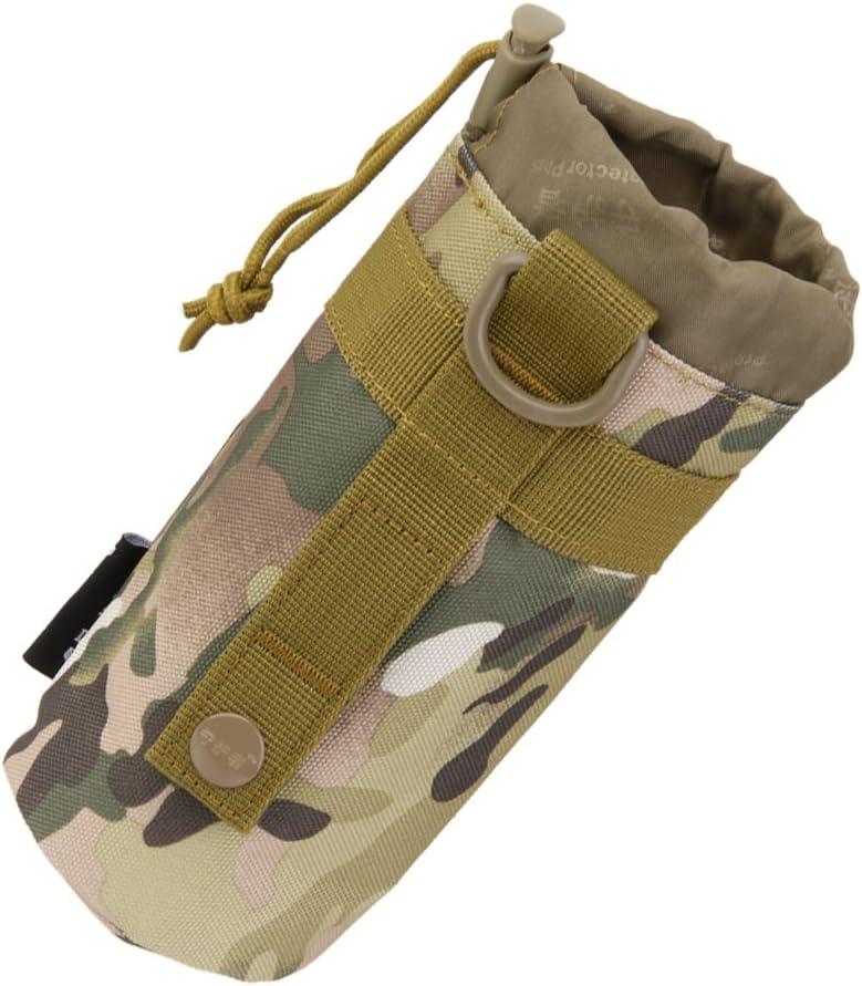 Camuflaje CP Desconocido Bolsa T/áctica Militar de Botella de Agua Sistema Molle al Aire Libre
