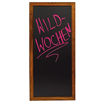 Decor Service Wand-Kreidetafel Natur 60 x 1,5 cm Holz