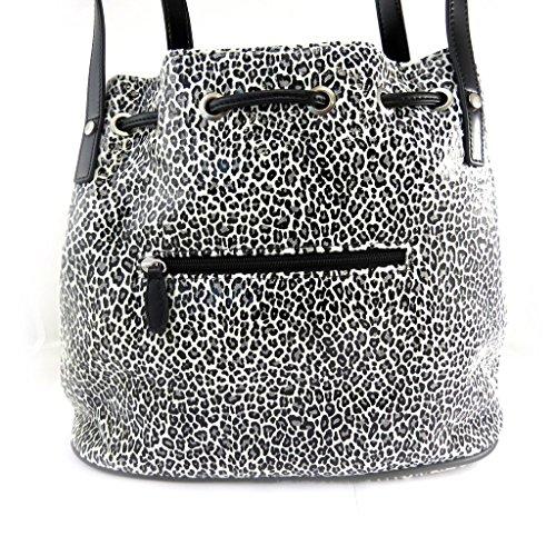 Bag designer Jacques Esterelbianco nero di leopardo. Venta De Precio Más Barato Descuentos En El Precio Barato SnLkvMC
