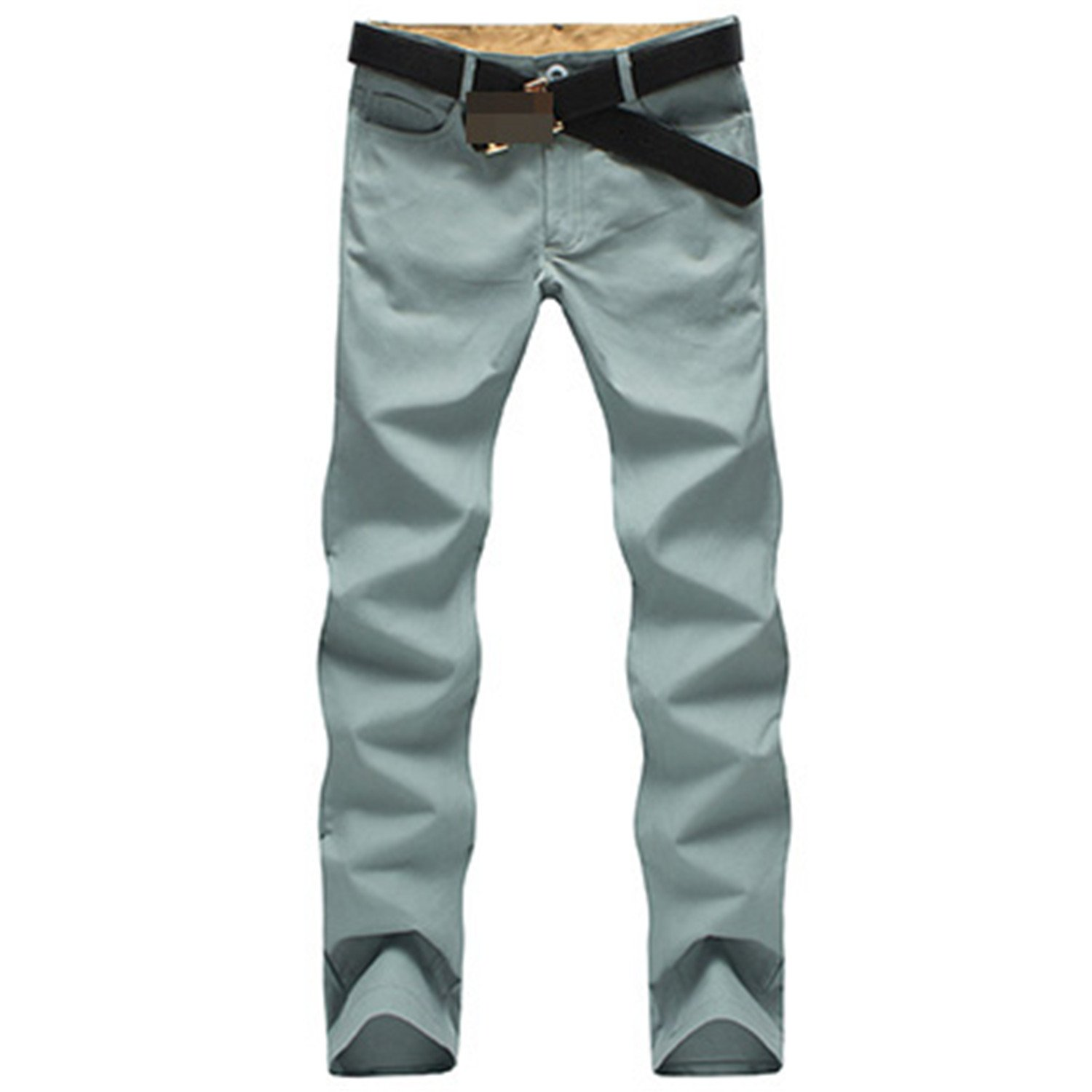 MRstriver New Fashion Men Pants Cotton Washed Casual Pants Men Straight Trousers 9 Colors Plus Size 28~44 Men's Clothing Gray Green 42 by MRstriver