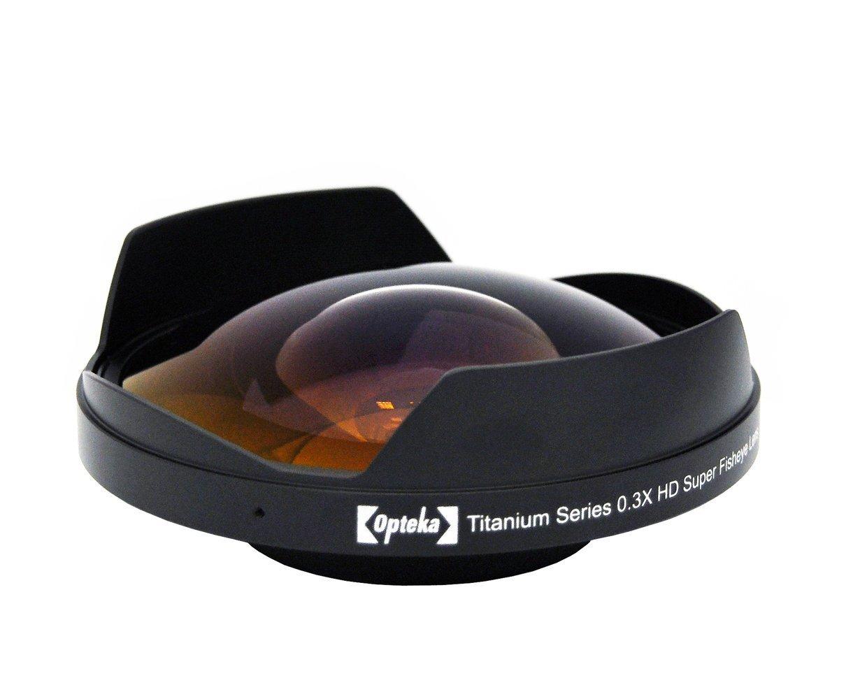 Opteka OPT-SC58FE Titanium Series 58mm 0.3X HD Super Fisheye Lens for Professional Video Camcorders
