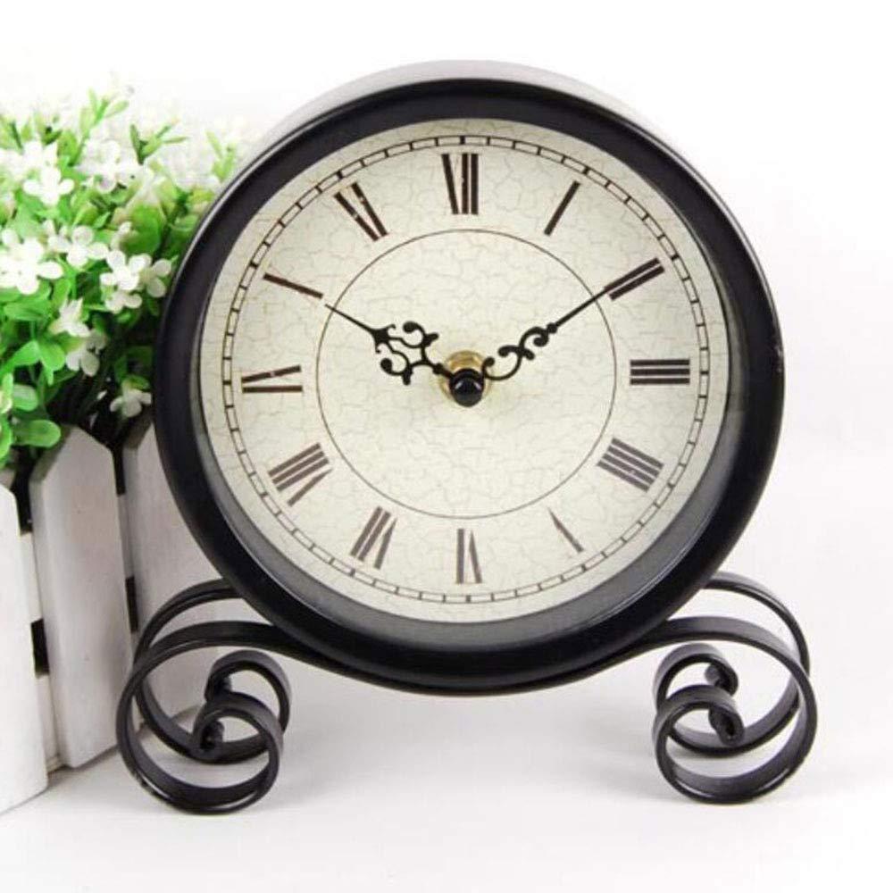 HEMFV Creativo, sin Segunda Mano, Simple Reloj de Hierro Forjado ...