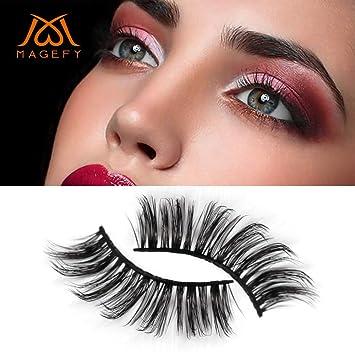 470eb6afc4c Amazon.com : OWMEOT💖5 pair Luxury 3D False Lashes Fluffy Strip Eyelashes  Long Natural Party (Black) : Beauty