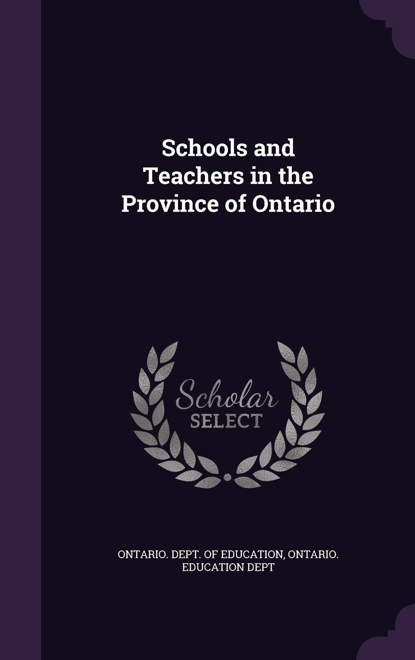 Download Schools and Teachers in the Province of Ontario pdf
