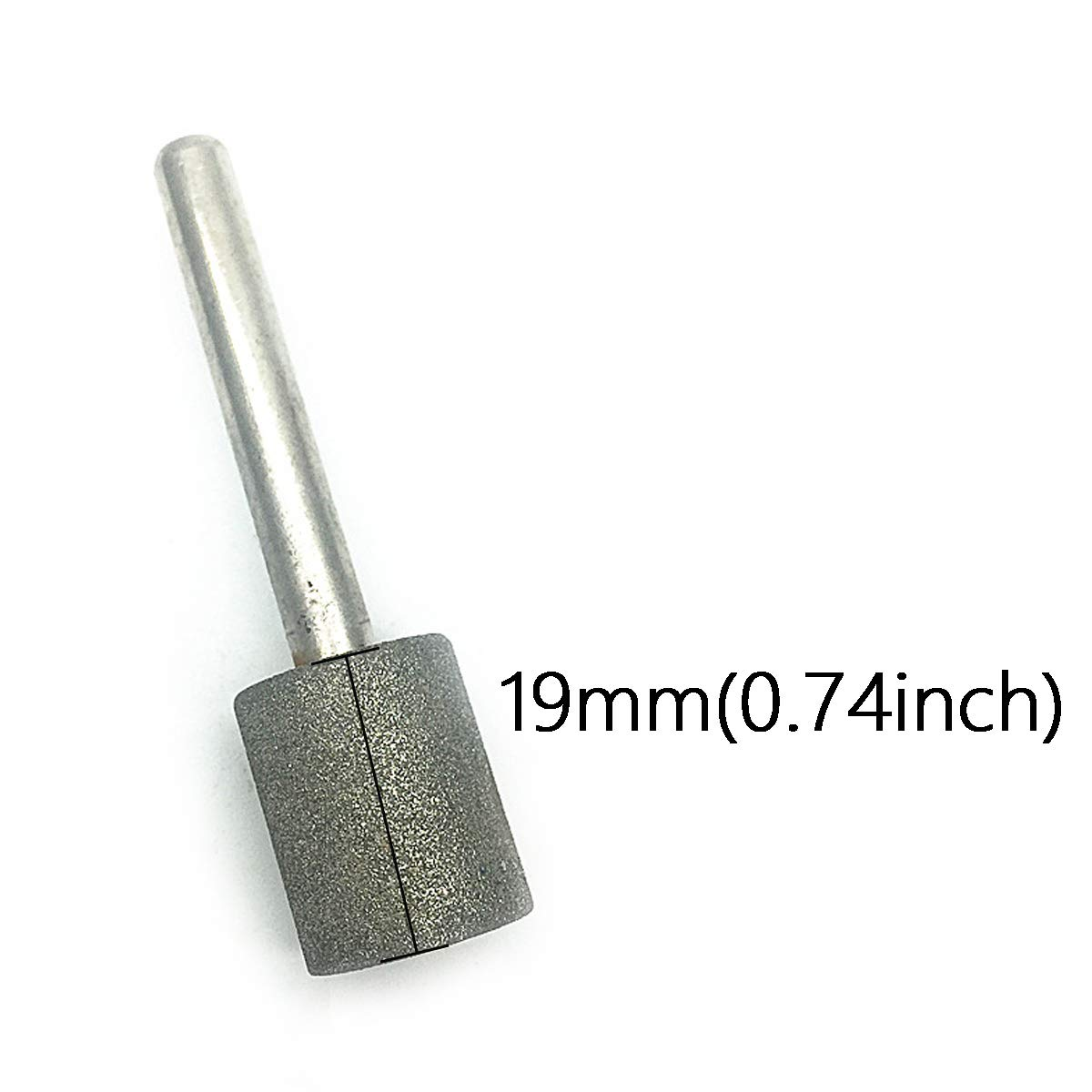 COMOK Grinding Head Diameter 16mm//0.62inch Silver Tone Cylindrical Diamond Grinding Bit Mounted Points 2pcs