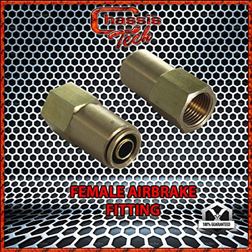Chassis Tech D.O.T. NYLON AIR BRAKE PUSH CONNECTOR 1/2'' TUBE X 3/8'' FEMALE NPT (DA)