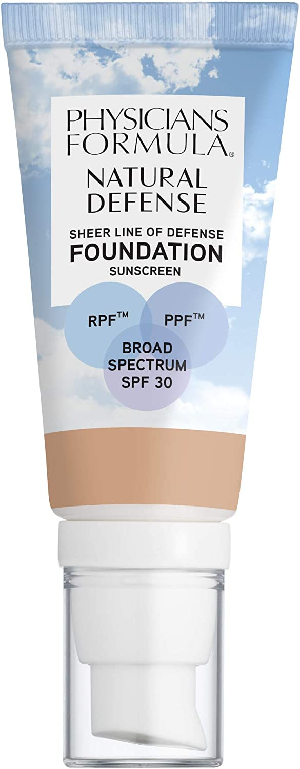 Physicians Formula Natural Defense Sheer Line of Defense Foundation SPF 30, Fair, 1 Ounce