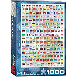 Amazoncom EuroGraphics Flags of the World Puzzle 1000Piece