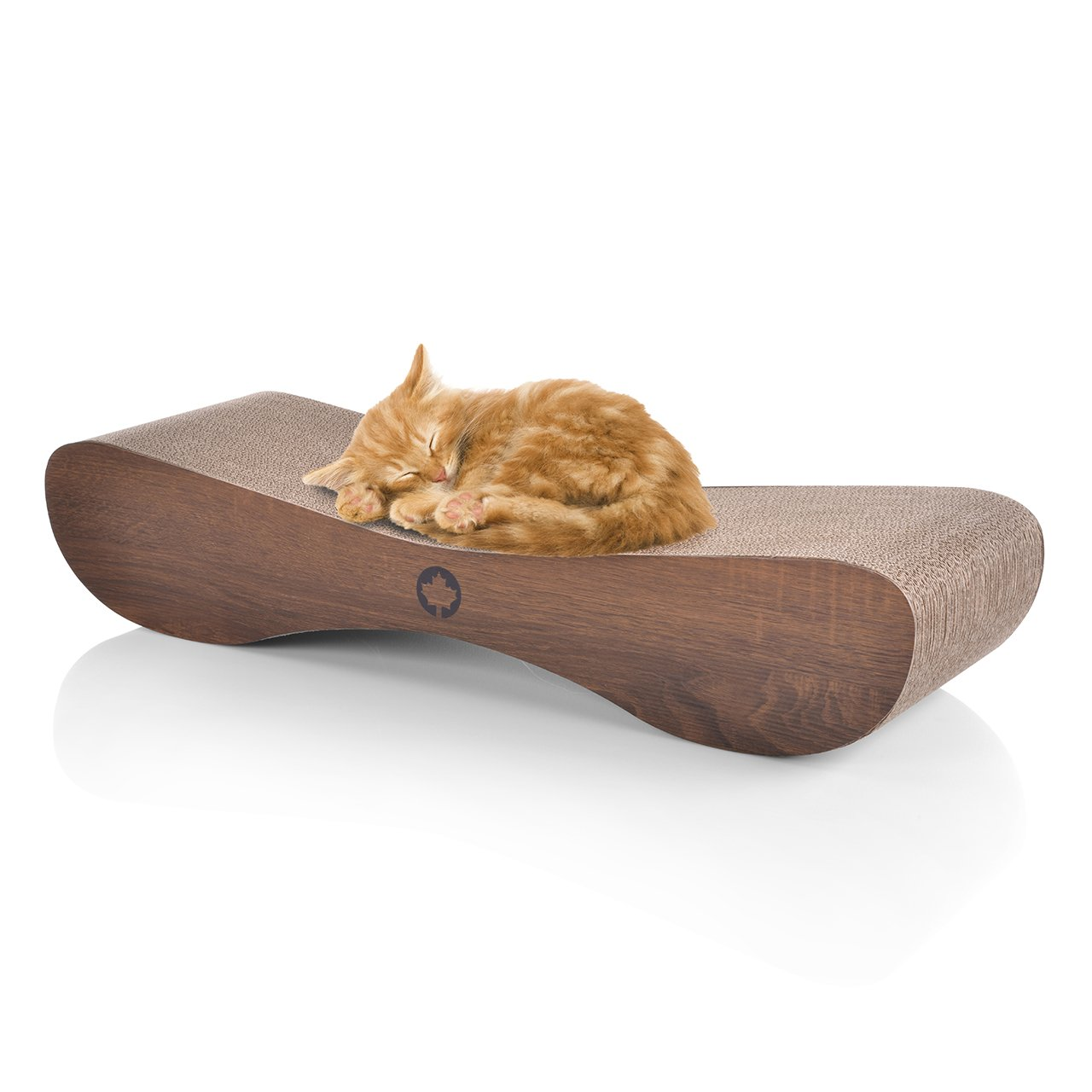 CanadianCat Company | XXL Satellite 2.0 Lounge | Walnuss | Kratzmöbel,  Kratzbrett | Qualitäts Pappe +Katzenminze | 76 X 24 X 15cm: Amazon.de:  Haustier