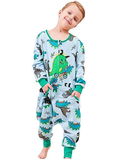 Coralup - Saco de Dormir para niños (100% algodón, con pies ...