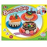 Mallya Birthday Cake DIY Play Dough Mold with Tools Set For Pretend Play