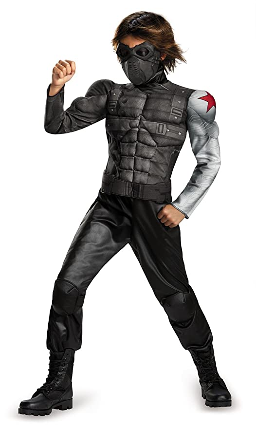 disguise marvel captain america the winter soldier movie 2 winter soldier boys classic muscle costume