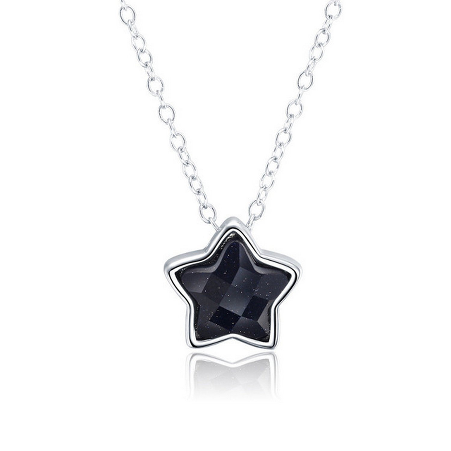 MMC Black Tiny Delicate Star Silver Pendants Necklaces