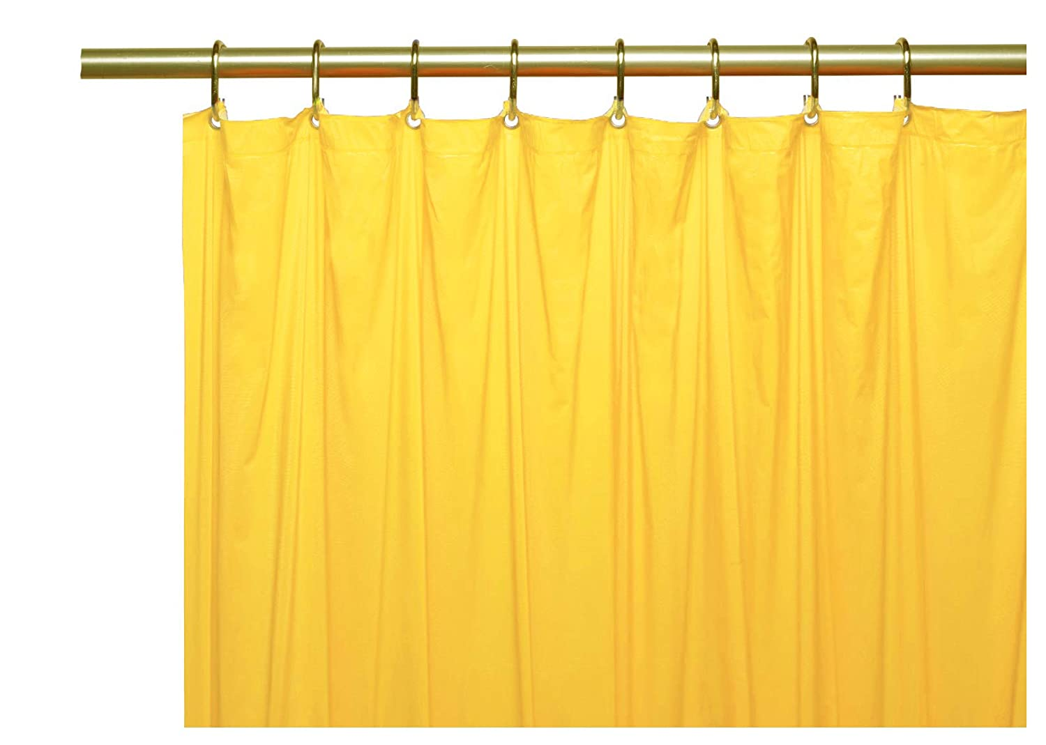 Amazon Elegant Home Heavy Duty Vinyl Shower Curtain Liner With 12 Metal Grommets Yellow Kitchen