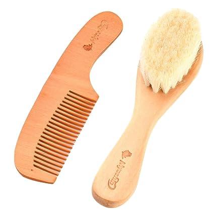 Cepillo para Bebé, Kapmore 2Pcs Cepillo Inflable con Peine de pelo ...