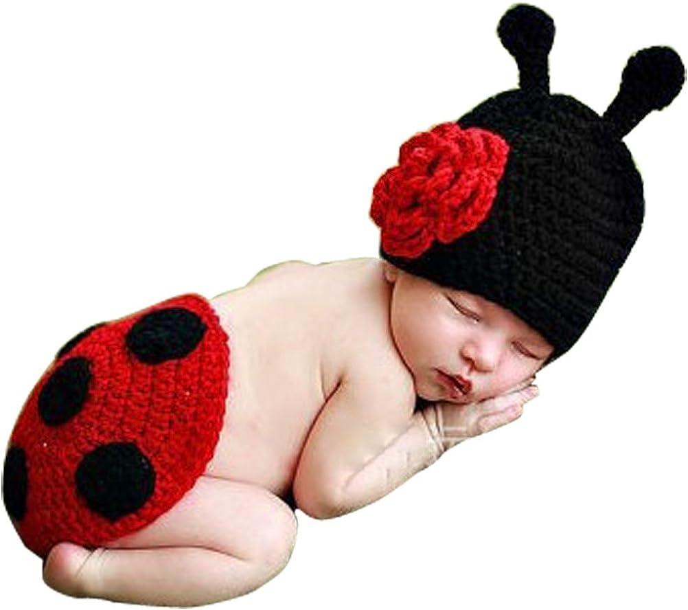 ARAUS Baby Fotografie Requisiten Strickwoll Meerjungfrau Seestern M/ädchen Kost/üm Outfits f/ür Kinder 0-4 Monate