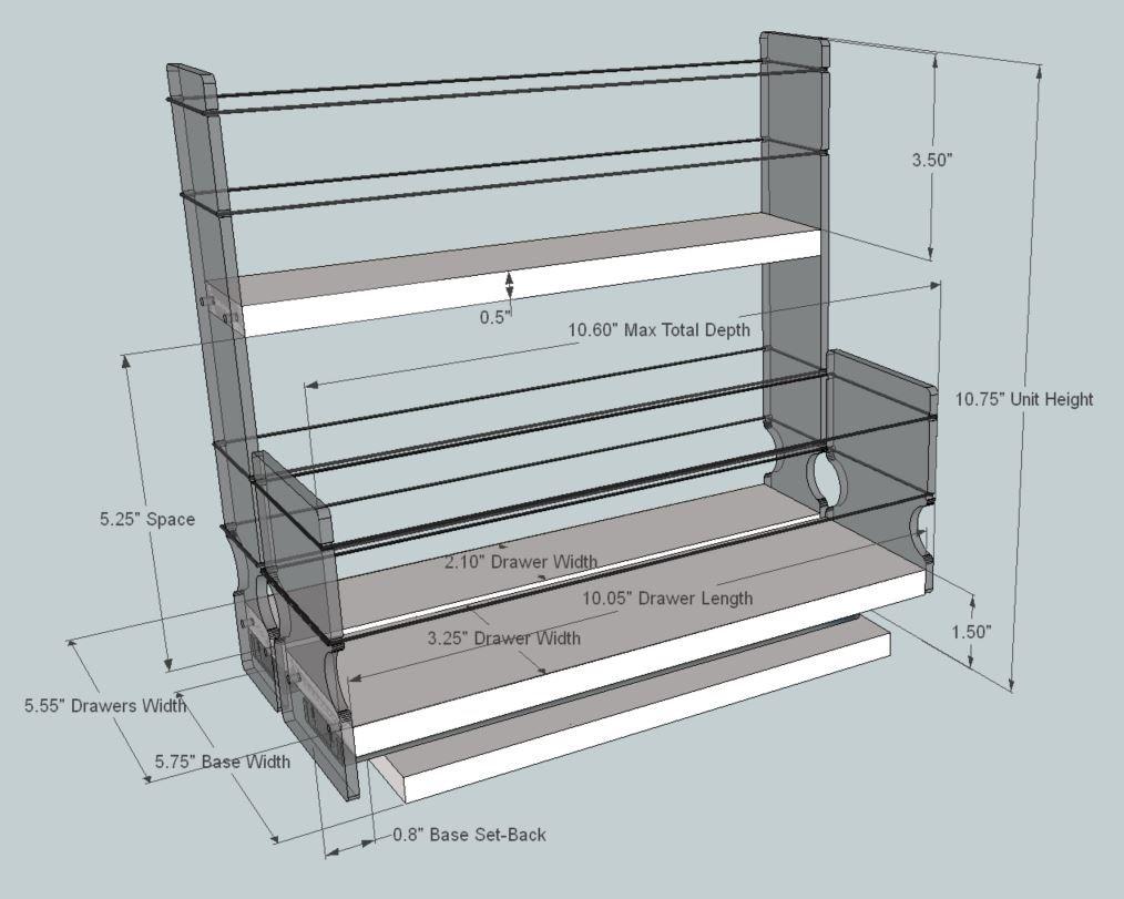 Amazon.com: Vertical Spice - 23x2x11 DC - Spice Rack and Storage ...