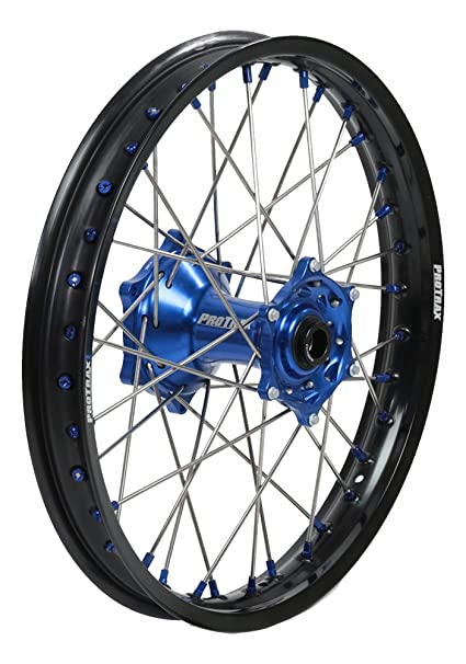 Amazon com: ProTrax Complete Wheel Rim Set Blue Hub