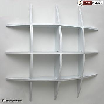 Bücherregal weiß wand  Homestyle4u Wand Retro Cube Regal Bücherregal Regalen, weiß, KLEIN ...