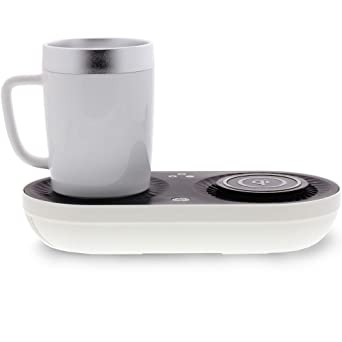 Wireless Fast Qi Charging Station With Mug Warmer/Cooler by Nomodo
