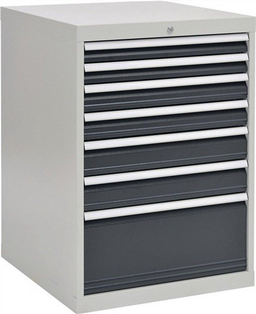 Schubladenschrank H1019xB705xT736 grau/anthr. 2x75 2x100 2x125 1x300
