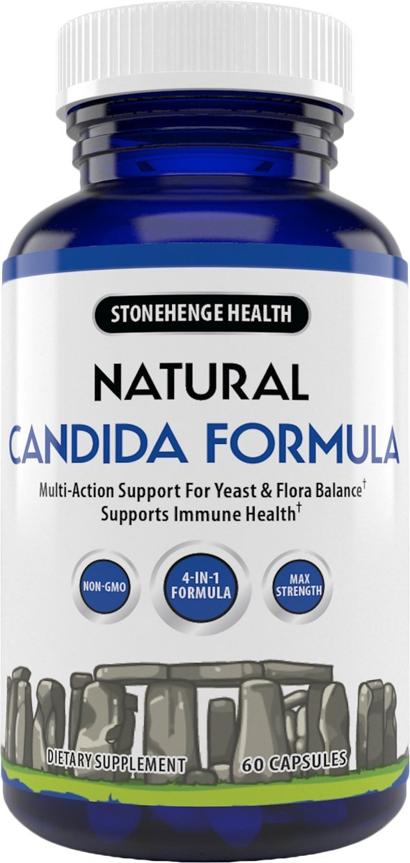 Stonehenge Health Natural Candida Formula - 4-in-1 Max Strength Natural Herbal Antifungal Cleanse with Enzymes - Support for Yeast Infection + Flora Balance 1 Month Supply by Stonehenge Health