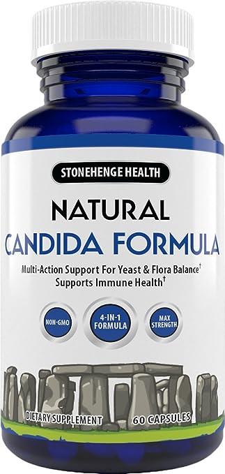 Stonehenge Health Natural Candida Formula - 4-in-1 Max Strength Natural  Herbal Antifungal