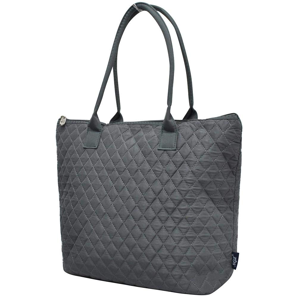 91deacf66f16 Ngil Quilted Cotton Medium Tote Bag 2018 Spring Collection (Solid Grey)