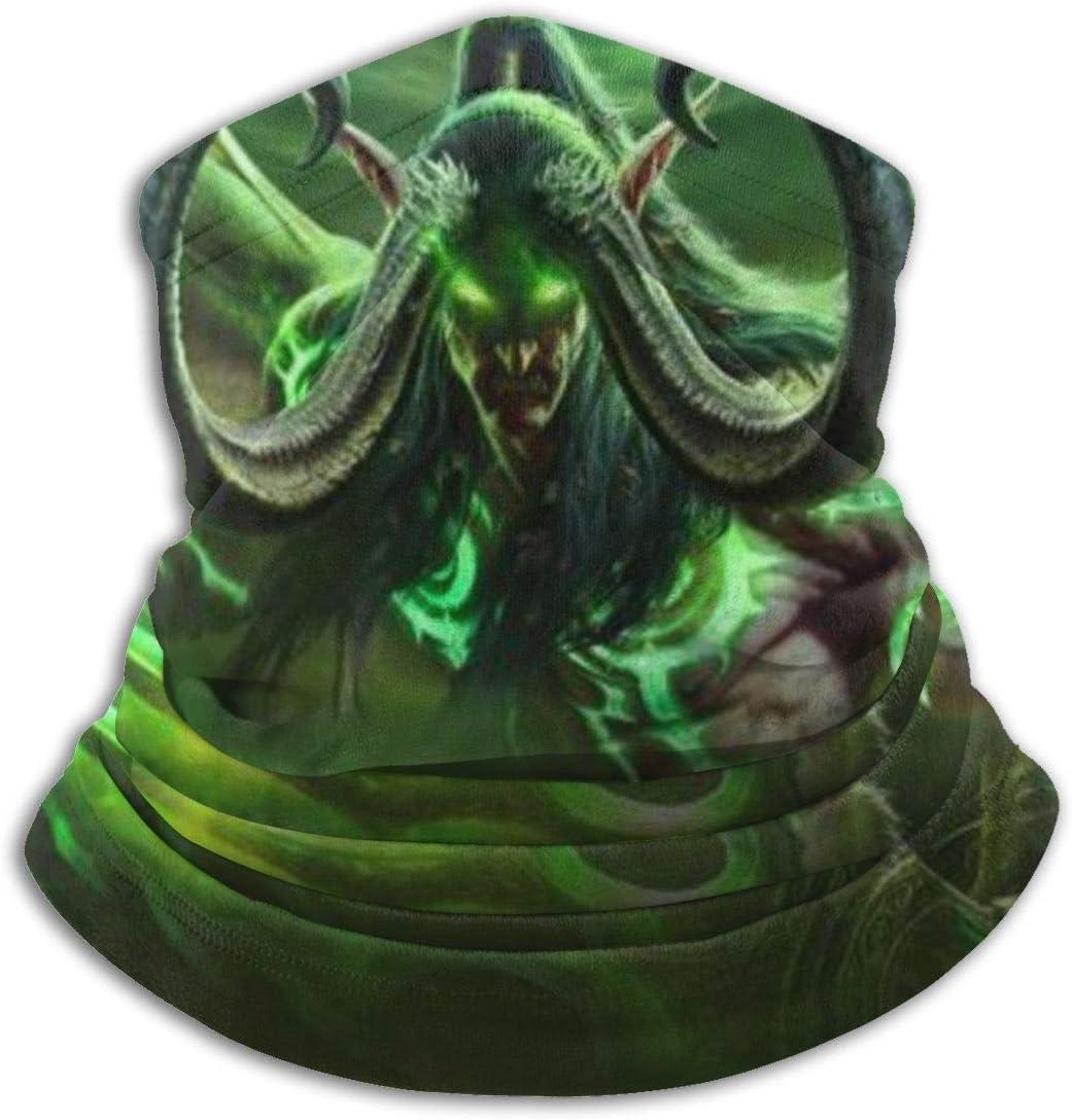 unisex suave resistente al viento Grtswp World Of Warcraft Illidan para deportes y senderismo Bufanda para cuello