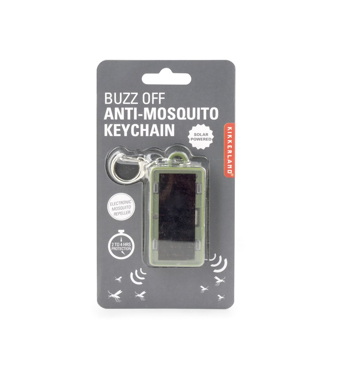 Kikkerland Buzz Off Anti Mosquito Keychain Solar Electronic Repeller Electronicslab Garden Outdoor