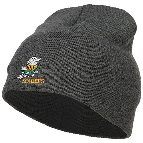 e4Hats.com Navy Seabees Symbol Embroidered Short Beanie - Dk Grey OSFM ()