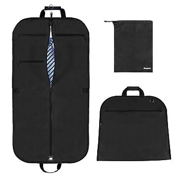 Anpro Anzugtasche Kleidersack mit Schuhbeutel, Anzughülle Kleiderhülle Anzugsack Hochwertig für Anzug und Kleid zum Reisen, 1