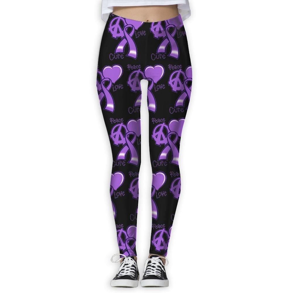 14d088112a85 Hant Peace Love Cure Purple Ribbon Breast Cancer Awareness Women's  Activewear High-Waist Tights Leggings Yoga Pants at Amazon Women's Clothing  store: